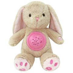 Plyšový usínáček králíček s projektorem Baby Mix růžový