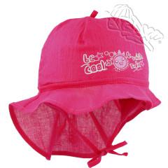 Dívčí letní vázací klobouk s plachetkou Krab Malinový RDX