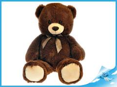 Medvěd plyšový 90cm s mašlí 0m+