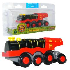 Lokomotiva parní oranžová na baterie