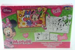 Puzzle Minnie 2 v 1 vybarvovací