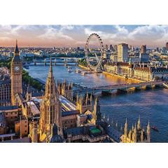 Puzzle Trefl Londýn,Anglie 1000 dílků 68,3x48cm