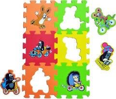 Pěnové puzzle - podložka KRTEK doprava 15 x 15 cm