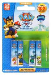 Paw Patrol baterie AAA/LR03 Alkaline 1,5V 4ks
