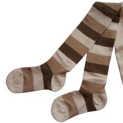 Dětské punčocháče Design Socks vel. 1 (12 - 24 měs) BÉŽOVÉ PROUŽKOVANÉ