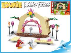 EDUKIE stavebnice Angry Birds seznamka 224 ks + 2 figurky