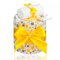 Plenkový dort malý T-tomi, žluté hvězdičky