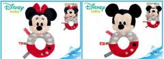 Baby chrastítko Mickey Mouse nebo Minnie, 0m+