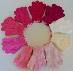 Zimní dívčí prstové rukavičky pletené Vel. M (3-5 let)