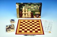 Šachy, dáma, mlýn společenská hra v krabici