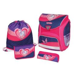 Školní taška set Herlitz Sporti kůň/srdce
