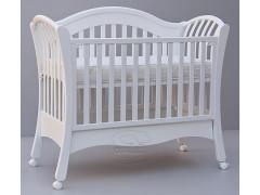 Dětská postýlka - Scarlett Valencie - buk - bílá - 120 x 60 cm