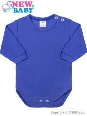 Kojenecké body s dlouhým rukávem New Baby neonové modré