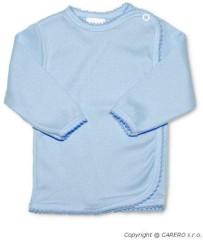 Kojenecká košilka zavinovací vel. 56 PROUŽKY MODRÁ