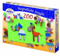 Puzzle dřevěné magnetické ZOO