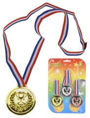 Medaile plastové sada