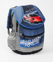Anatomický školní batoh PLUS Auto modrá 2015