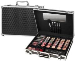 Kosmetický stříbrný kufřík VIP Traveller Amsterdam