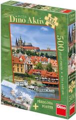 Puzzle Pražský hrad XXL 47x66cm 500 dílků + plakát