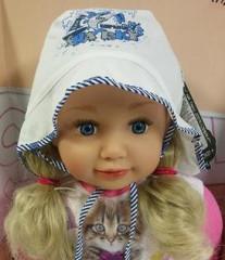 Chlapecký zavazovací klobouček s potiskem ŽRALOKA