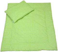 Souprava do kočárku Zelená kostka, bavlna