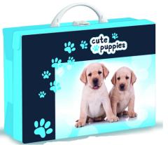 Dětský kufřík hranatý Pes