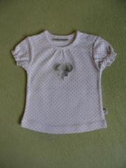 Bavlněné tričko bílé puntík a sloník Babyservice