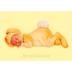 Blahopřání mini Anne Geddes - Žlutý králíček