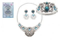 Sada krásy plast korunka + náhrdelník + naušnice 3ks