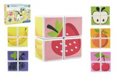 Magnetické kostky - ovoce 4 ks
