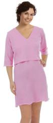 Noční košile ke kojení ''Sarah'' růžová