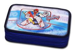 Školní pouzdro 3-patra plněné Hockey Emipo