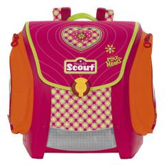 Školní aktovka Scout - Růžové srdíčko I.