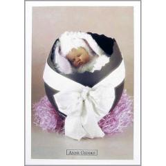 Pohlednice Anne Geddes králík ve vejci
