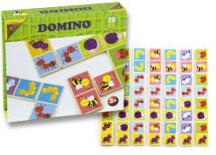 Domino dřevěné broučci 28 ks nez