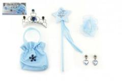 Sada princezna 5ks hůlka, korunka, kabelka(pompadurka), náušnice,gumička