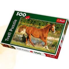 Puzzle Trefl Kůň ve trysku 500 dílků 48x34cm