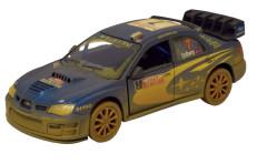 Auto Kinsmart Subaru Impreza WRC 2007 kov 12,5cm na zpětné natažení