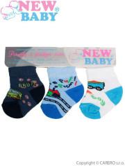 Kojenecké bavlněné ponožky New Baby barevné - 3ks vel. 62 (7-8)