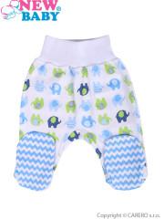 Kojenecké polodupačky New Baby Sloník bílo-modré vel. 68