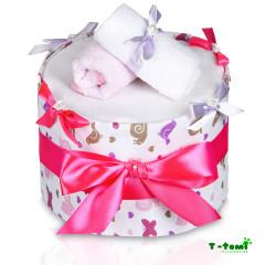 Plenkový dort velký T-tomi, růžový šnek