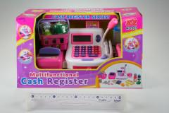 Registrační pokladna se čtečkou karet a mikrofonem růžová