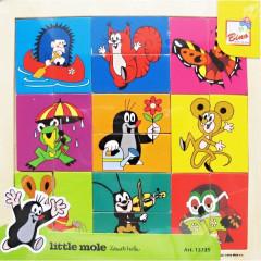 Puzzle hlavičky - Krtek, 18 dílů