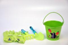 Zahradní nářadí dětské s kbelíkem Krtek