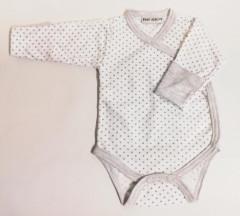 Bavlněné body dlouhý rukáv s rukavičkami Hvězdičky Baby Service