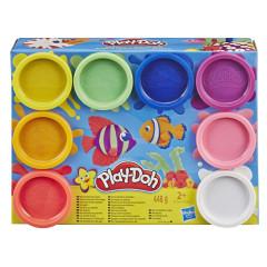 Play Doh Balení 8 ks kelímků - Duhové