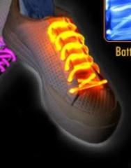 Svítící a blikající tkaničky do bot ŽLUTÉ
