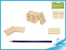Palety dřevěné 5x3,8x1cm 8ks