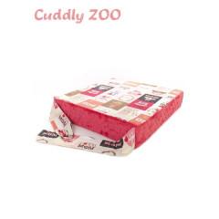 Dětský sedací polštář Cuddly Zoo - Máma světle červený