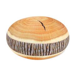 Kulatý polštář - Dřevo